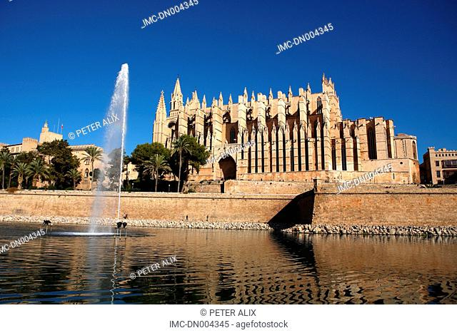 Spain, Balearic islands, Majorca, Palma de Majorque, cathedral