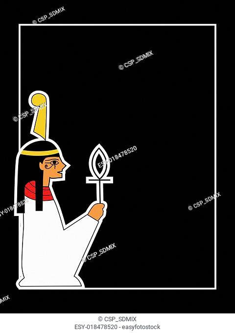 the vector egyptian god