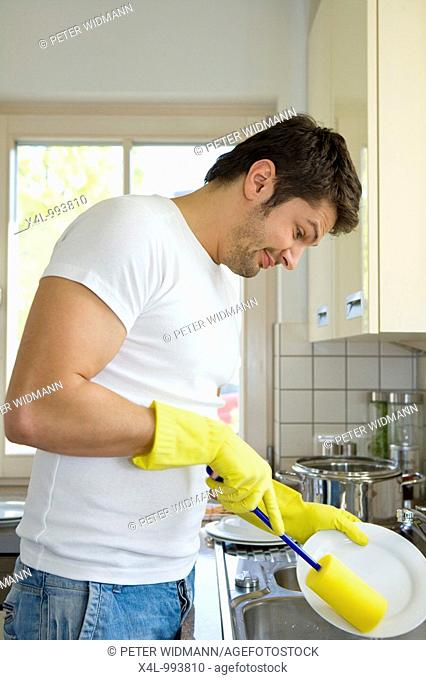 man with the housework