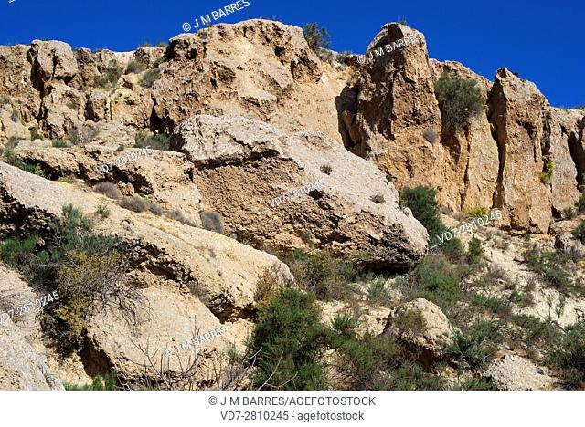 Gypsum karst in Sorbas Natural Park, Almeria, Andalusia, Spain