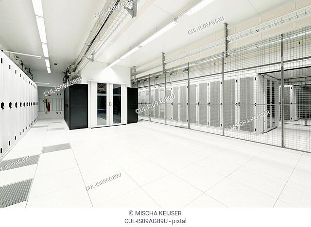 Room in data storage warehouse