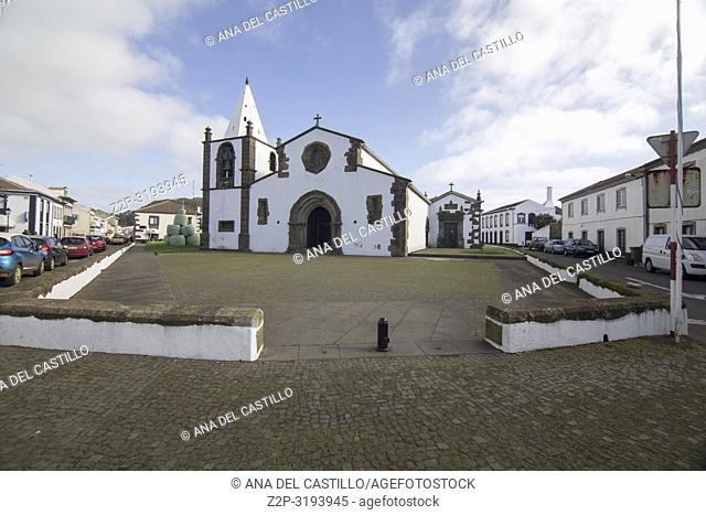 Sao Sebastiao typical village in Terceira island Azores Portugal. The parish church