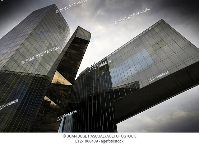 Mare Nostrum Tower by architect Enric Miralles, Barcelona, Catalonia, Spain