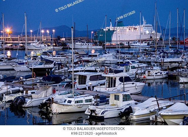 Marina, Port of Alcudia, Majorca, Balearic Islands, Spain