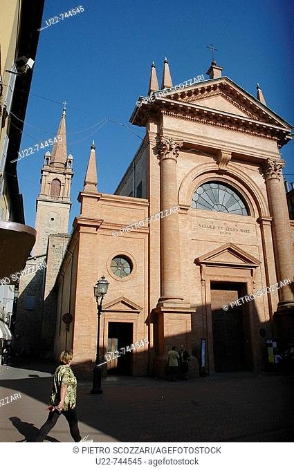 Vignola Modena, Italy, church in the centre