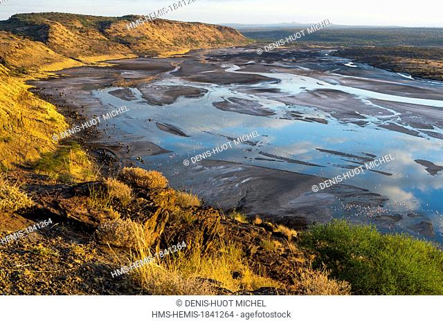 Kenya, lake Magadi, Rift valley, at dawn