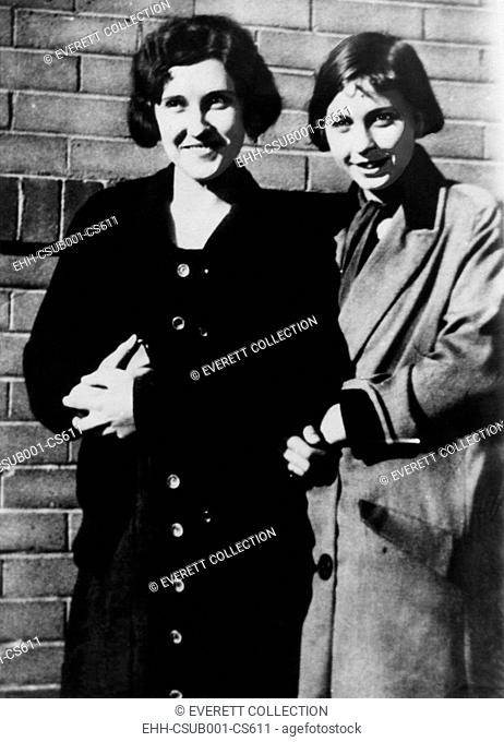 Victims of the 1931 Phoenix Trunk Murders. Mrs. Agnes Ann LeRoi (left) and Miss Hedwig Samuelson. Ca. 1931. Mrs. Winnifred Ruth Judd was convicted of their...