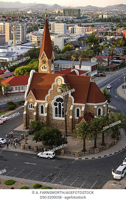 The Christ Church at sunset. Windhoek, Namibia