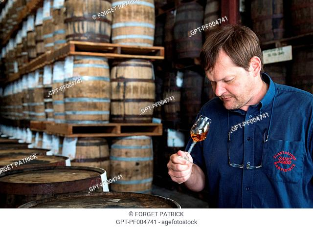 MARC SASSIER, DIRECTOR OF PRODUCTION AND OENOLOGIST, SAINT-JAMES DISTILLERY, SAINTE-MARIE, MARTINIQUE, FRENCH ANTILLES, FRANCE