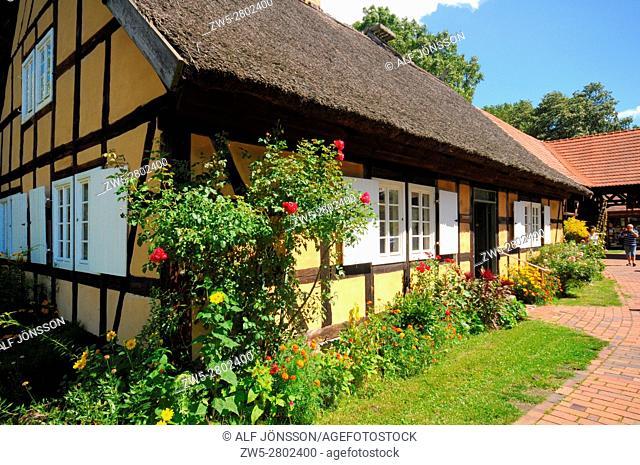 Farmhouse in open-air-museum in Lehde, Luebbenau, Spreewald, Brandenburg, Germany