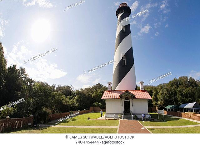 St Augustine Lighthouse and Museum St Augustine Florida 165 feet tall built 1871-1874