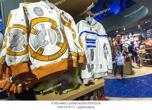 Star Wars merchandise in the Disney store in Times Square in New York on so-called ''Force Friday II'', September 1, 2017