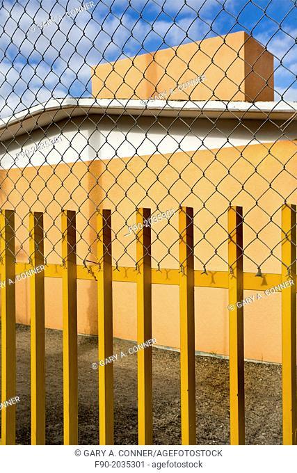 Building, fence, sky in San Jose del Cabo, Mexico