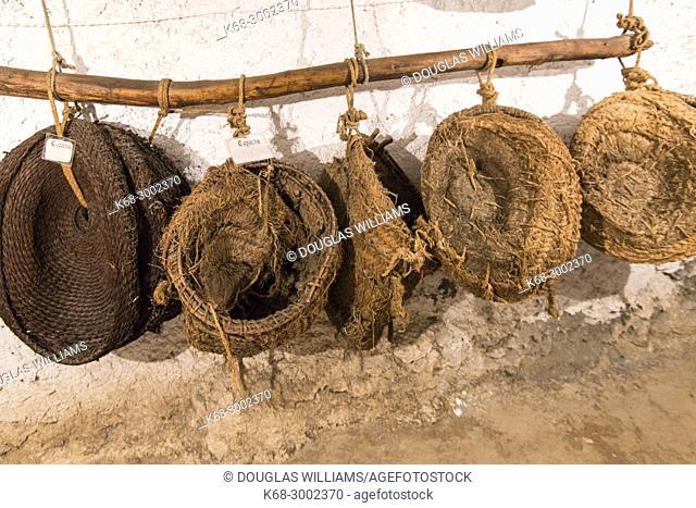 baskets in the Museum in Bubion, Alpujarras, Spain