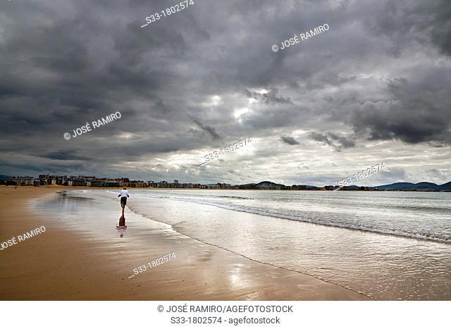 Salvé beach in Laredo  Santander  Cantabria  Spain