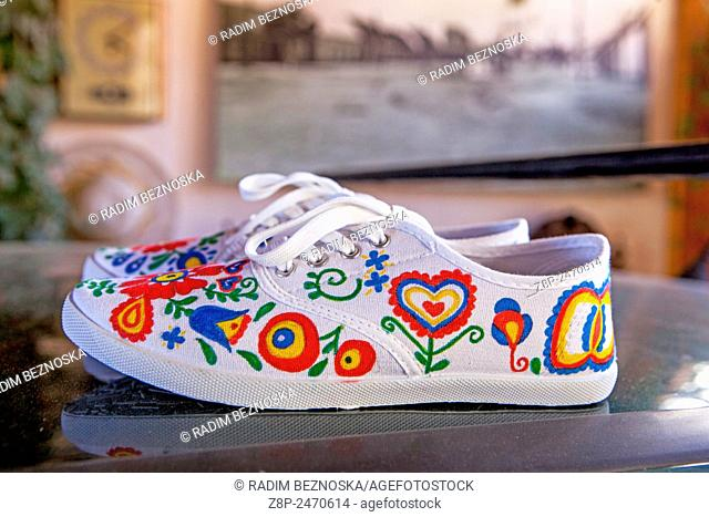 Sneakers with folk motifs from Moravia