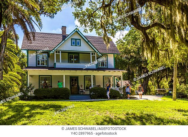 Guptill House at Historic Spanish Point on the Gulf Coast of Florida in Osprey Florida