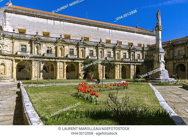 Cloister of Monastery of Santa Clara-a-Nova, Parish of Santa Clara, Coimbra, Baixo Mondego, Centro Region, Portugal, Europe