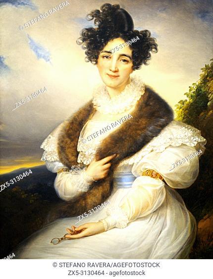 Portrait of Marie Josephine Lafont Porcher (1827/1828) by Francois Joseph Kinsoen (1771-1839)