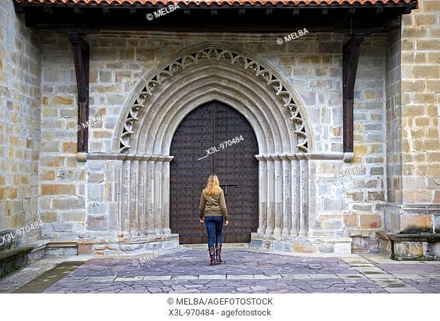 Saint Miguel de Idiazabal church  Guipuzkoa  Euskadi  Spain