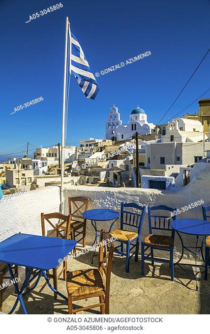 Pyrgos. Santorini Island. Ciclades Islands. Greece