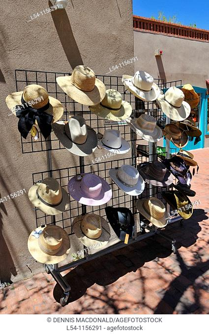 Hat Display in Downtown Shopping Area Santa Fe New Mexico