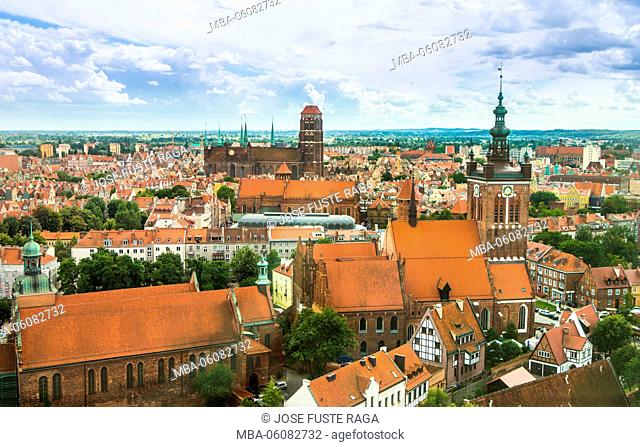 Poland, Gdansk City, old town skyline