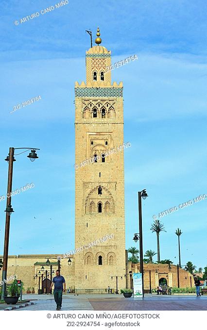 The Koutoubia Mosque, XIIth century. Marrakesh city, Morocco