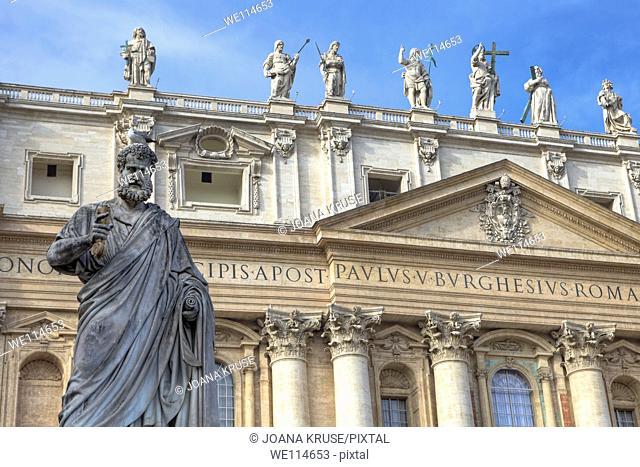Facade of St  Peter's Basilica in the Vatican