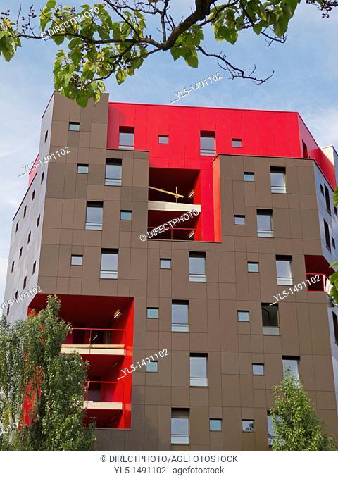 Paris, France, New Student Housing Building Site, 13th District