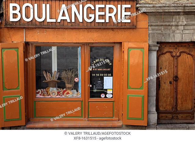 Old bakery in a Provence village, Alpes de Haute Provence, Provence-Alpes-Côte d'Azur, France
