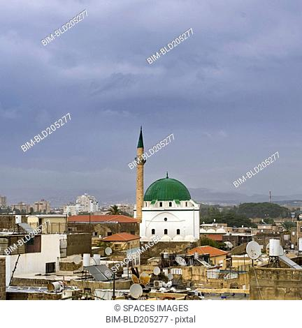Skyline of Acre and the Jezzar Pasha Mosque