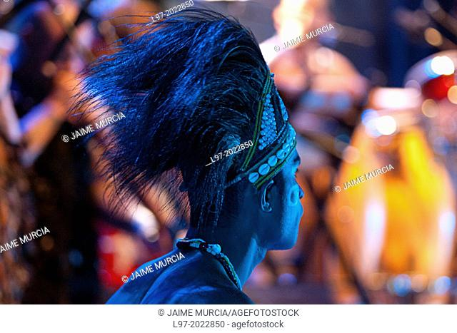 Indigenous performer/musician from Irian Jaya, Indonesia