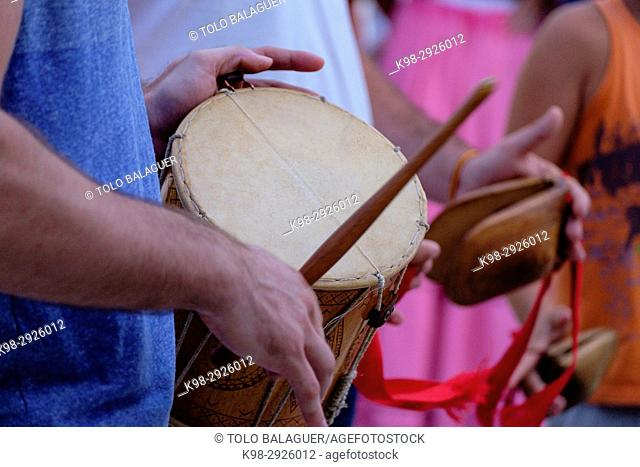 Musical instruments, Ball pagès, typical dance from Ibiza, Ibiza, Balearic Islands, Spain