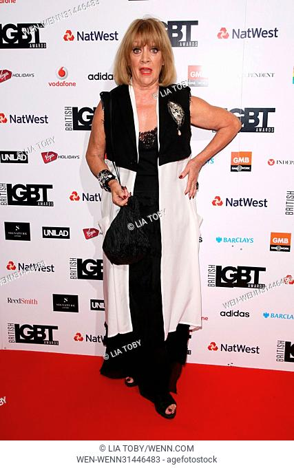 British LGBT Awards 2017 - Arrivals Featuring: Amanda Barrie Where: London, United Kingdom When: 12 May 2017 Credit: Lia Toby/WENN.com