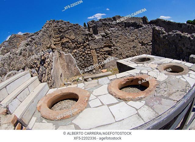 Ruins of Pompei, Ancient Roman Ruins, UNESCO Worl Heritage Site, Pompei, Naples, Campania, Italy, Europe