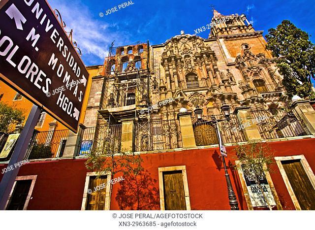 Church of the Company, Iglesia de la Compañía, Churrigueresque stile, historic center, Guanajuato City, Guanajuato state, Mexico, Central America
