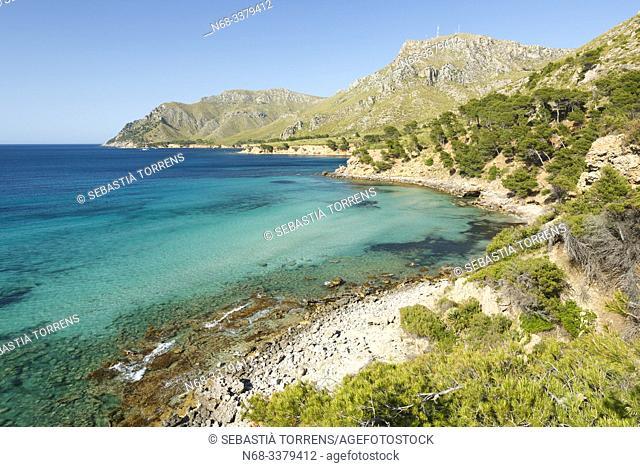 View of Na Clara, coast of Artà, Majorca, Spain