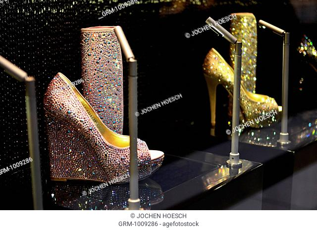 Luxury Shoes on Display in Dubai Mall, UAE