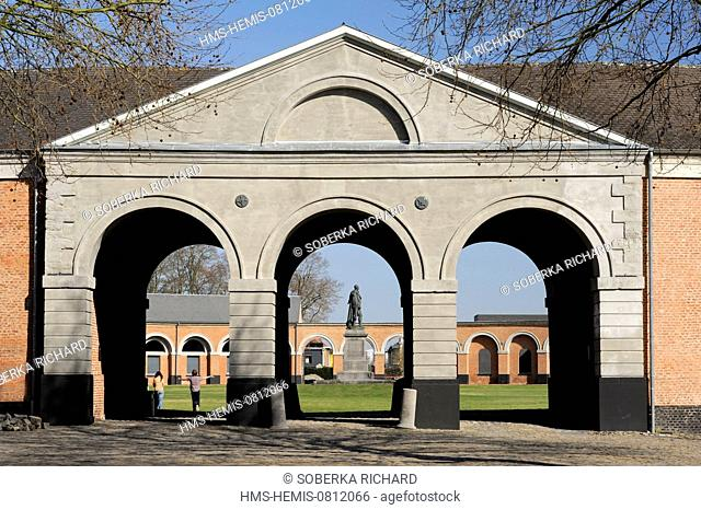 Belgium, Wallonia, Hainaut, Hornu, Le Grand Hornu, major mining site listed as World Heritage by UNESCO, Museum of Contemporary Art of the French Community of...