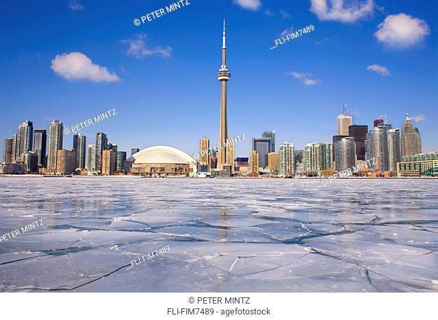 City skyline in winter, Toronto, Ontario 2009