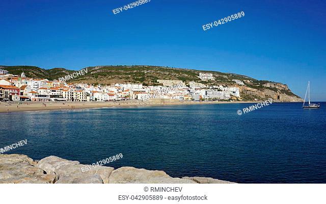 Atlantic coast in Sesimbra , Portugal