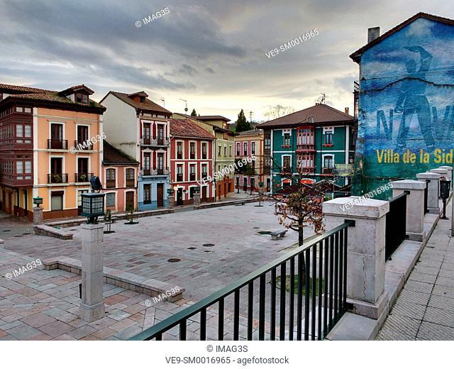 Manuel Uría square, Nava, Asturias, Spain