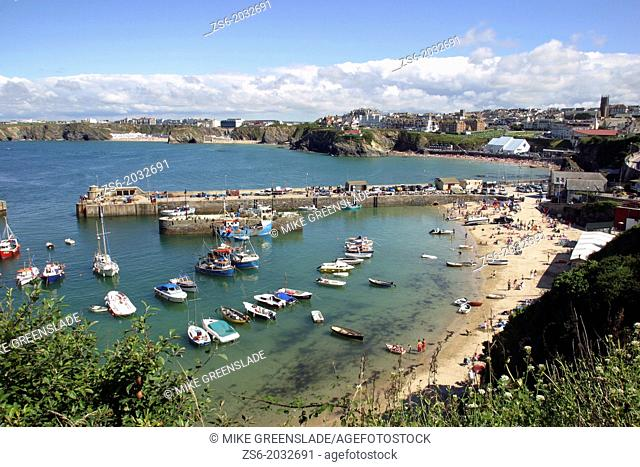 Newquay Harbour, Cornwall, UK