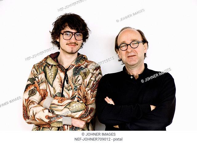 Portrait of two men, Sweden