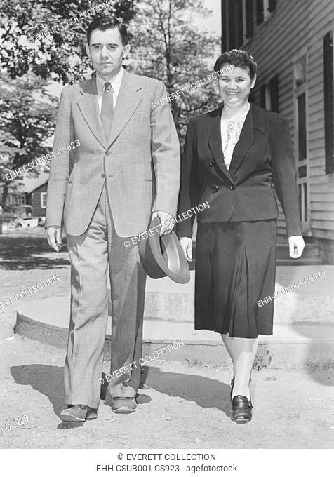 Andrei Gromyko with his wife, Lydia Dmitrievna, Gainesville Maryland, Aug. 23, 1943. Gromyko was the Soviet Union's Minister of Foreign Affairs from 1957 to...