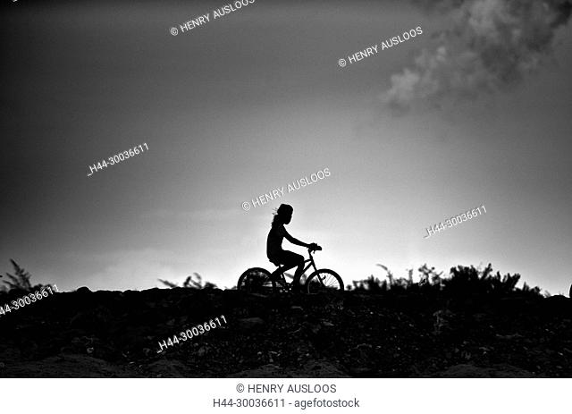 Cambodia, Girl on the bicycle
