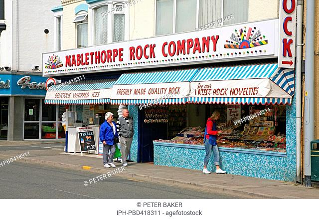 The Mablethorpe Rock Company shop in the seaside town
