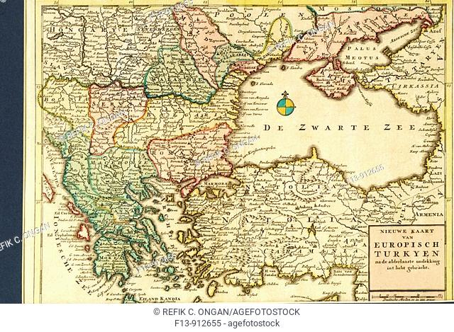 map of old ottoman