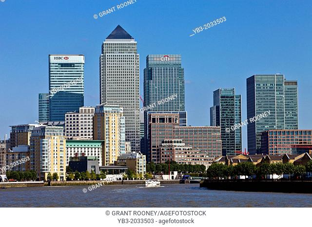 Canary Wharf, Viewed From Shadwell, London, England